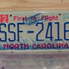 2005 North Carolina NC License Plate Tag #SSF-2416 EX