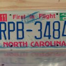 2003 North Carolina NC License Plate Tag #RPB-3484 - EX-N