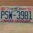 2002 North Carolina NC License Plate Tag #PSW-3981 - EX-N