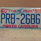 2002 North Carolina NC License Plate Tag #PRB-2686 - EX-N