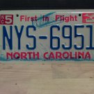 2002 North Carolina NC License Plate Tag #NYS-6951 - EX-N