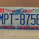 2000 North Carolina NC License Plate Tag #MPT-8756 EX-N