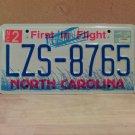 2000 North Carolina NC License Plate Tag #LZS-8765 EX-N
