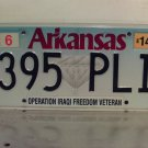 2014 Arkansas AR Operation Iraqi Freedom Veteran License Plate Tag 395-PLI