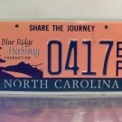 2005 North Carolina NC Blue Ridge Parkway License Plate Tag #0417BP Mint w/ Tabs