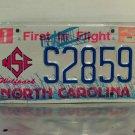 1999 North Carolina NC State NCSU License Plate Tag #S2859 2nd Design