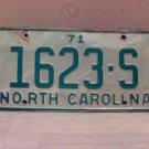 1971 North Carolina Truck License Plate NC #1623-S
