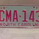 1973 North Carolina EX YOM License Plate Tag NC #CMA-143