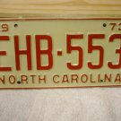 1973 North Carolina EX YOM License Plate Tag NC #EHB-553