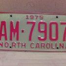 1975 North Carolina License Plate NC #AM-7907