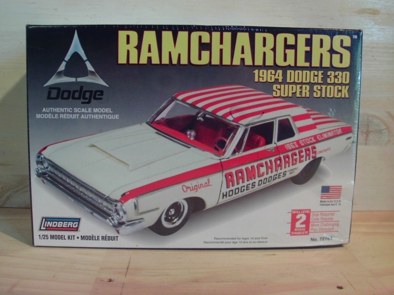 Lindberg 1964 Dodge 330 Ramchargers Model Kit in 1/25 scale - 72161