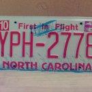 2009 North Carolina NC License Plate Tag YPH-2778