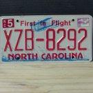 2009 North Carolina NC License Plate Tag XZB-8292