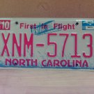 2008 North Carolina NC Red Letter License Plate Tag XNM-5713 EX-N