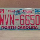2008 North Carolina NC Red Letter License Plate Tag WVN-6650 EX-N