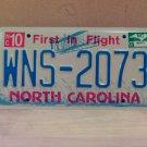 2007 North Carolina NC License Plate Tag #WNS-2073 EX-N