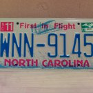 2007 North Carolina NC License Plate Tag #WNN-9145 EX-N