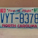 2007 North Carolina NC License Plate Tag #VYT-8378 EX-N