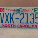 2007 North Carolina NC License Plate Tag #VXK-2135 EX-N