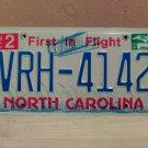 2007 North Carolina NC License Plate Tag #VRH-4142 EX-N