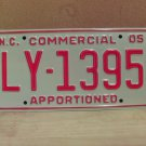 2005 North Carolina Apportioned Truck License Plate NC #LY-1395