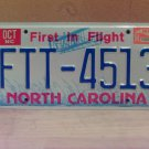 1994 North Carolina License Plate Tag NC FTT-4513