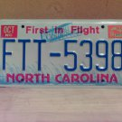 1994 North Carolina License Plate Tag NC FTT-5398