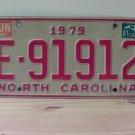 1981 North Carolina NC YOM Trailer License Plate Tag E-91912
