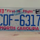 2016 North Carolina License Plate NC CDF-6317