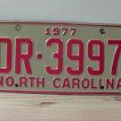 1977 North Carolina Truck License Plate NC #DR-3997
