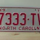 1970 North Carolina Rat Rod License Plate Tag NC #7333-TV YOM