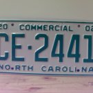 2002 North Carolina NC Commercial Truck License Plate Mint Dated CE-2441