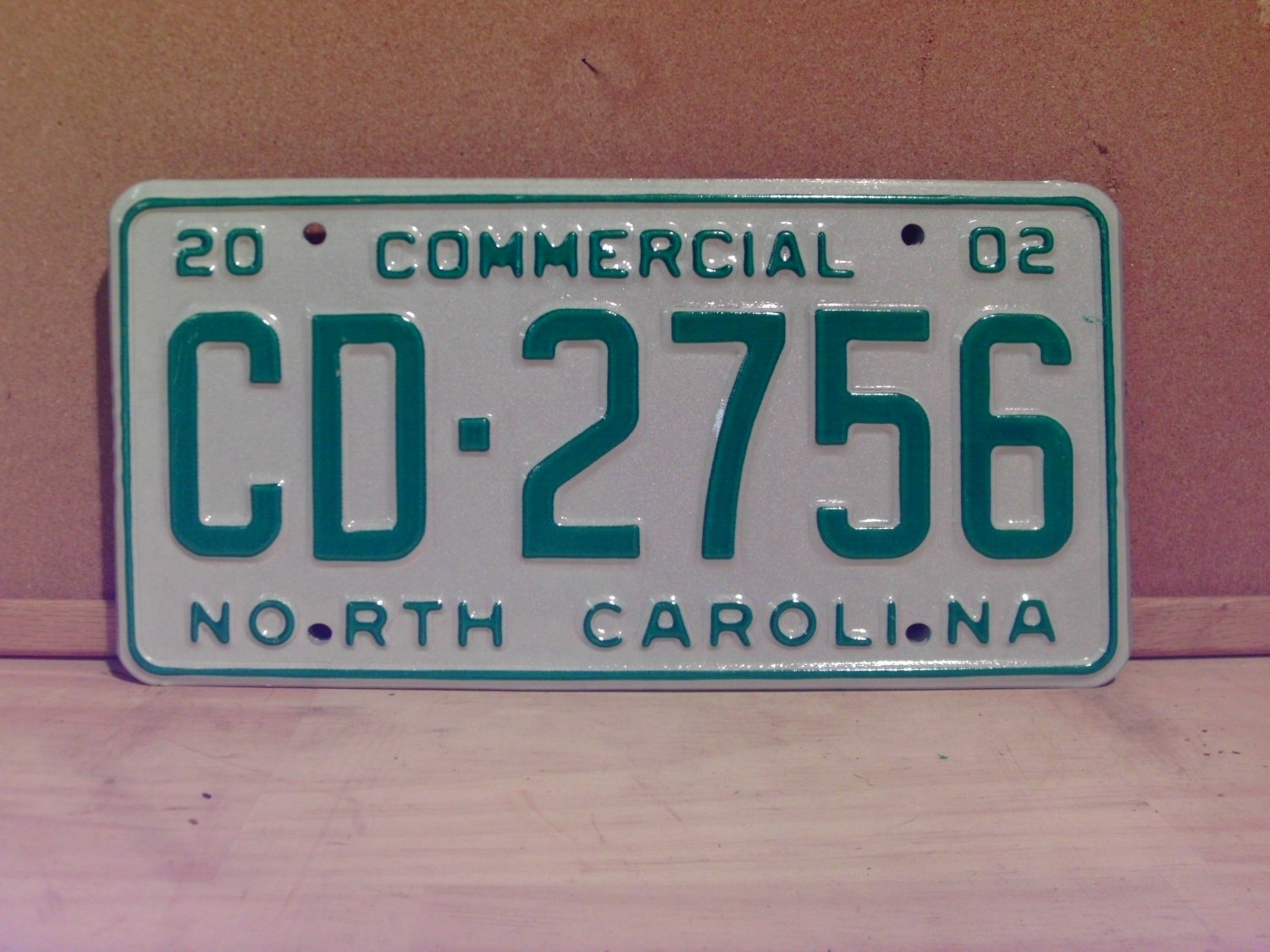 2002 North Carolina NC Commercial Truck License Plate Mint Dated CD-2756