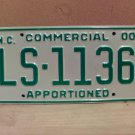 2000 North Carolina Apportioned Truck License Plate Mint NC #LS-1136