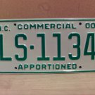 2000 North Carolina Apportioned Truck License Plate Mint NC #LS-1134