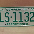 2000 North Carolina Apportioned Truck License Plate Mint NC #LS-1132