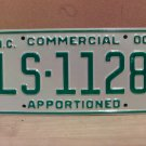 2000 North Carolina Apportioned Truck License Plate Mint NC #LS-1128