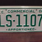 2000 North Carolina Apportioned Truck License Plate Mint NC #LS-1107