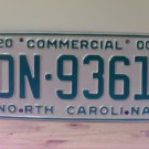2000 North Carolina Commercial Truck License Plate Mint NC #DN-9361