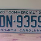 2000 North Carolina Commercial Truck License Plate Mint NC #DN-9359