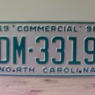 1998 North Carolina NC Commercial Truck License Plate Large '19' Mint #DM-3319