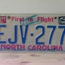 1993 North Carolina License Plate Tag NC #EJV-277