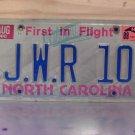 1989 North Carolina Vanity License Plate NC JWR10
