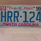 1986 North Carolina EX Passenger License Plate NC #HRR-124