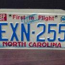 1985 North Carolina License Plate Tag NC #EXN-255