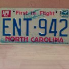 1985 North Carolina EX License Plate Tag NC #ENT-942