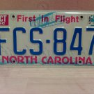 1985 North Carolina EX License Plate Tag NC #FCS-847