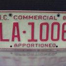 1985 North Carolina Apportioned Truck License Plate Tag NC #LA-1006