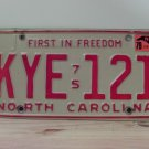 1979 North Carolina YOM License Plate Tag NC KYE-121