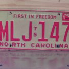 1977 North Carolina License Plate NC #MLJ-147